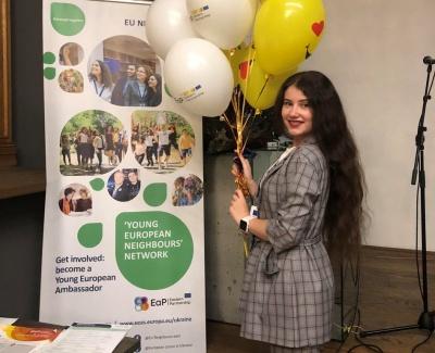 Студентка ЧНУ стала послом європейської молоді у Чернівцях