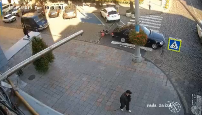 Продан показав відео моменту ДТП зі службовим авто Каспрука
