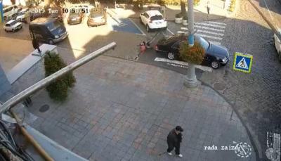 Продан показал видео момента ДТП со служебным авто Каспрука