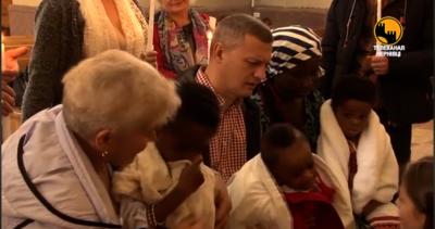 У Чернівцях охрестили трьох маленьких африканців