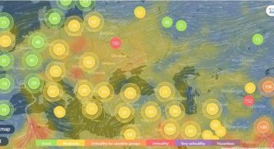 У Чернівцях зафіксували «нездоровий» рівень забруднення повітря