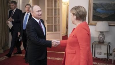 Меркель та Путін обговорили питання транзиту газу Україною