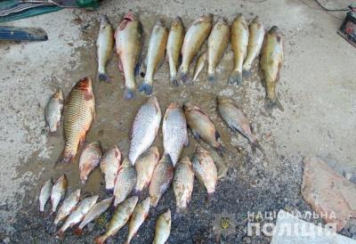 На Буковині затримали двох браконьєрів, які виловили сітками 60 кг риби