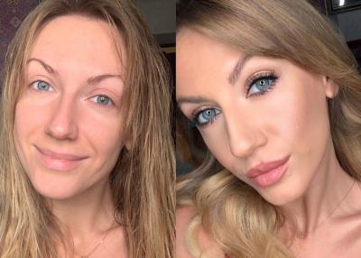З макіяжем і без: Леся Нікітюк знялася у двох образах і запропонувала обрати