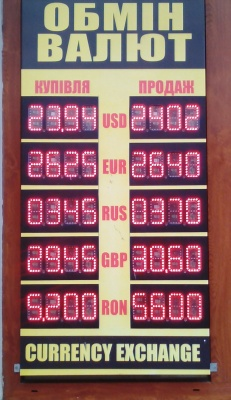 Курс валют у Чернівцях на 29 листопада