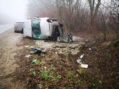 ДТП з потерпілими на Буковині: авто злетіло в кювет