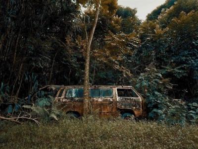 Фотограф знайшов у гавайських лісах занедбані авто - фото