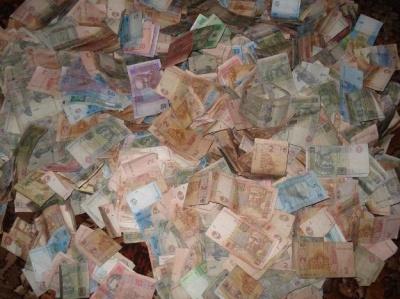 Нацбанк знищив тонни українських гривень