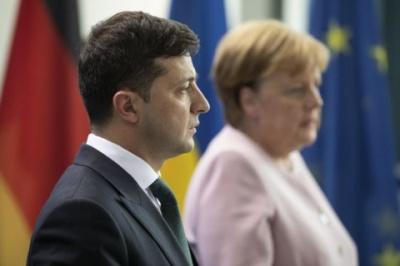 Зеленський провів переговори з Меркель на саміті нормандської четвірки