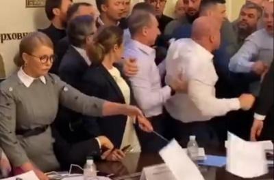 Кива влаштував у Раді штовханину: ледь не зачепило Тимошенко – відео