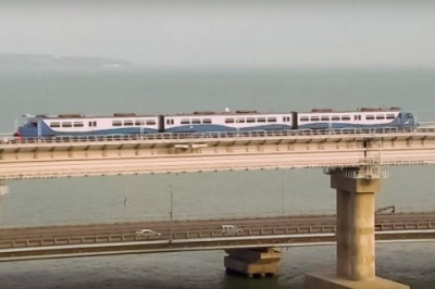 В окупованому Криму відкрили залізничну частину Керченського мосту