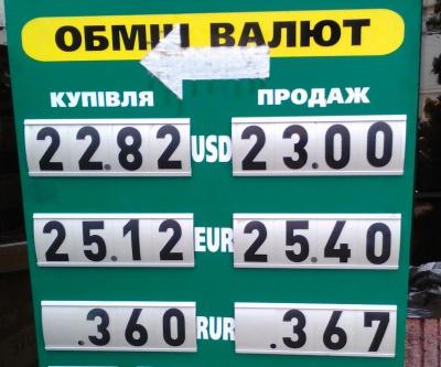 Курс валют у Чернівцях на 25 грудня