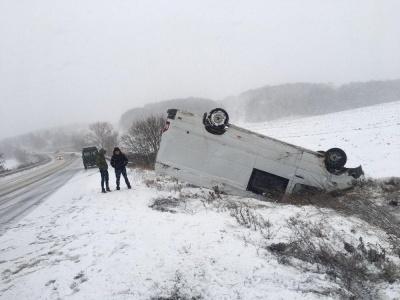 Снігова негода на Буковині: на трасах фіксують численні ДТП