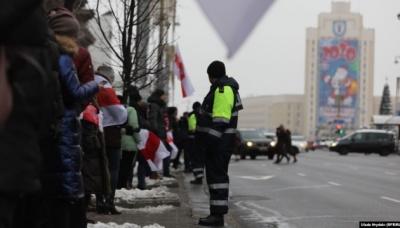 У Мінську вп'яте за місяць протестували проти інтеграції з Росією