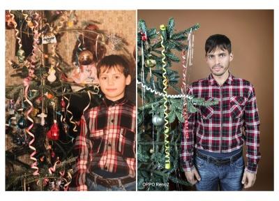 Перезняти новий рік: шоумен з Чернівців показав своє святкове дитяче фото