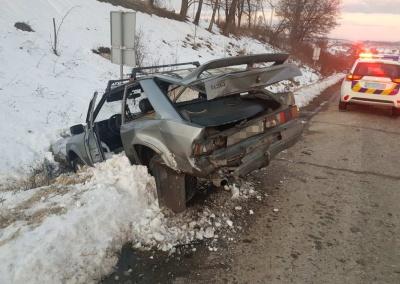 На Буковині Mitsubishi «наздогнав» Ford: авто злетіло з дороги - фото