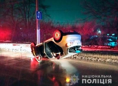 ДТП біля Калинки: авто перекинулося, бо водій був п'яний