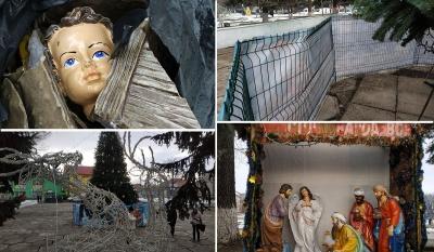 Поліція знайшла хуліганів, які пошкодили Різдвяний вертеп у Заставні