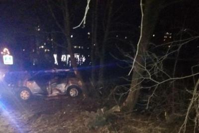 У Чернівцях легковик врізався у дерево, у водія – множинні переломи