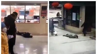 Коронавірус у Китаї: люди непритомніють і падають просто на вулиці – відео