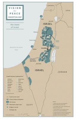 Трамп презентував план врегулювання на Близькому Сході та карту нових кордонів Ізраїлю та Палестини