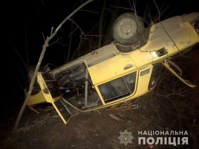 На Буковині ВАЗ злетів у кювет і перекинувся: водій у лікарні