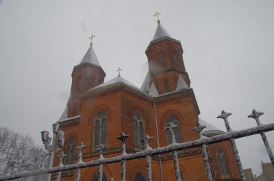 Зима повернулась: Чернівці засипає снігом – фото