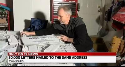Американець отримав 55 тисяч листів одночасно - фото