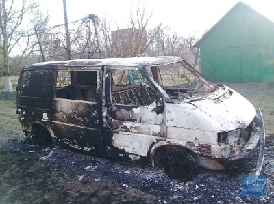 На Волині невідомі спалили автомобіль священника ПЦУ