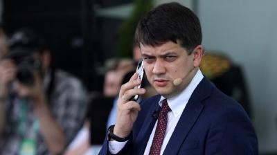 Разумков розкритикував нардепів за каву, їжу і смартфони на роботі