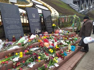 «Болить, але все це – недаремно»: у центрі Києва вшановують Героїв Небесної сотні – фото