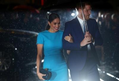 Перший вихід після Megxit: Меган Маркл і принц Гаррі підкорили публіку ефектною появою в Лондоні