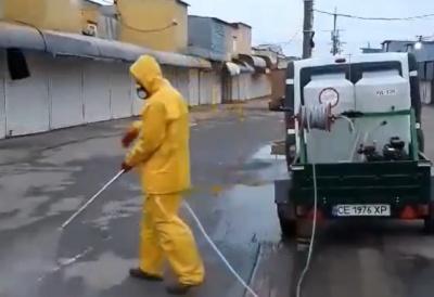 Каспрук показав, як проводять дезінфекцію на Калинівському ринку – відео