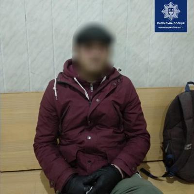 У Чернівцях поліцейські затримали чоловіка, який перебував у розшуку
