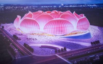 У Китаї будують найбільший футбольний стадіон у світі