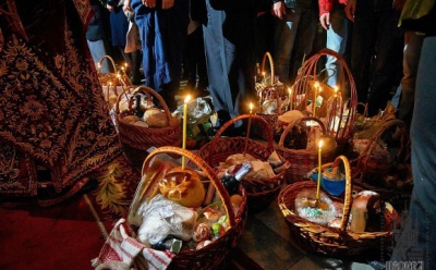Великдень онлайн: Пасхальне богослужіння в Соборі Успення Пресвятої Богородиці Чернівців