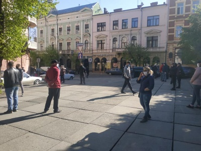 У Чернівцях підприємці протестують проти закриття ринків