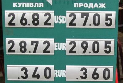 Курс валют у Чернівцях на 7 травня