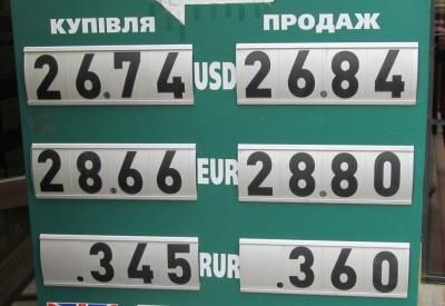 Курс валют у Чернівцях на 14 травня
