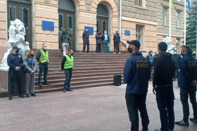 «Нацкорпус» пікетував Чернівецьку ОДА: Осачуку передали вимогу про відставку Єрмака