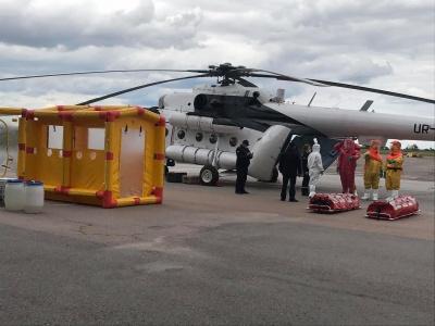 Відсьогодні на Буковині зможуть транспортувати хворих на COVID-19 санітарним вертольотом