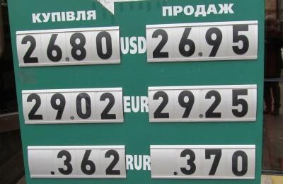 Курс валют у Чернівцях на 26 травня