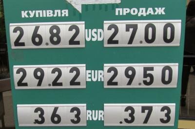 Курс валют у Чернівцях на 28 травня