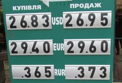 Курс валют у Чернівцях на 29 травня