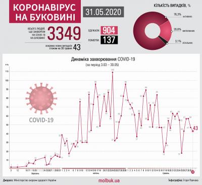Коронавірус атакує Буковину: що відомо на ранок 31 травня