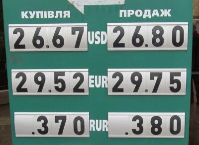 Курс валют у Чернівцях на 3 червня