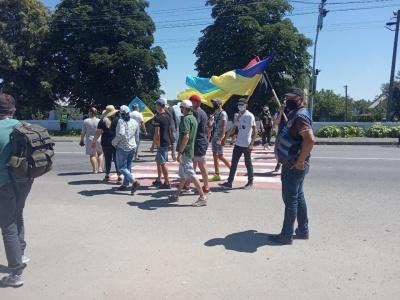 Пікетувальники знову заблокували трасу в Хотині