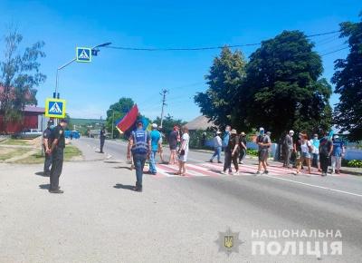 Блокування траси в Хотині: що відомо на цей час