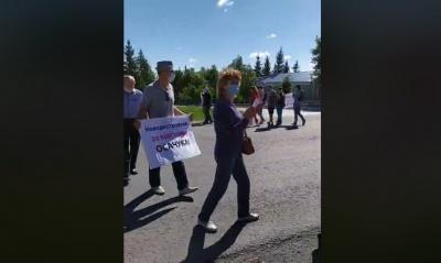Черговий протест у Новодністровську: місцеві жителі перекрили дорогу до ГАЕС - відео