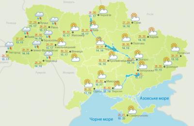 Погода на Буковині 11 липня